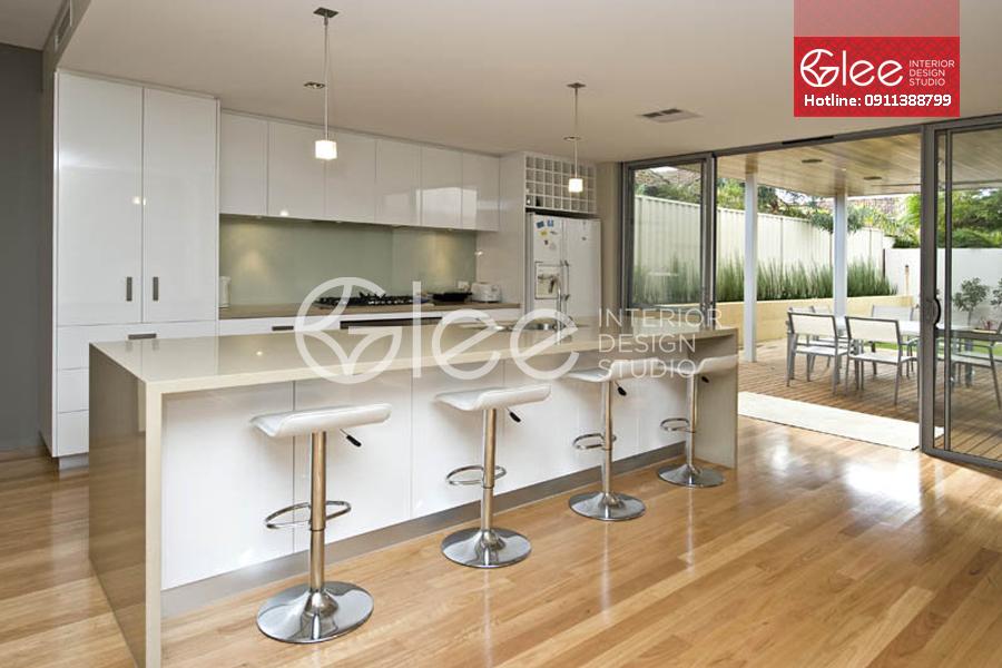 tủ bếp gỗ acrylic cao cấp, tu bep go acrylic cao cap